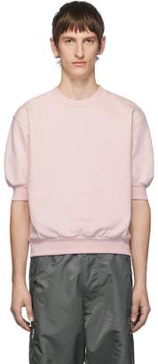 Random Identities Pink Fleece Short Sleeve Sweatshirt