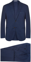 Boglioli - Blue Slim-fit Stretch-cotton Twill Suit