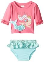 Mud Pie Mermaid Rashguard Bikini Set Girl's Swimwear Sets