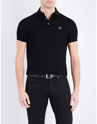 Ralph Lauren Purple Label Custom-fit cotton-piqué polo shirt