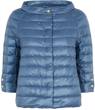 Herno Icon blue quilted shell jacket