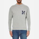 MAISON KITSUNÉ Men's College Logo Sweatshirt Grey Melange