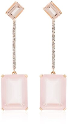 Mateo 14kt Gold Diamond Quartz Earrings