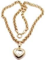 Chopard Happy Diamond 18K Yellow Gold with Diamond Pendant Necklace