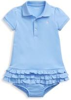 Ralph Lauren Baby Girl's 2-Piece Ruffled Polo Dress & Bloomer Set