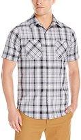 Akademiks Men's Tom Plaid Button Down Shirt