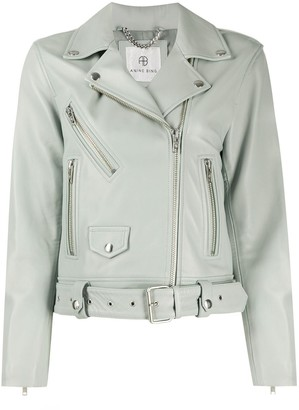 Anine Bing Cropped Biker Jacket