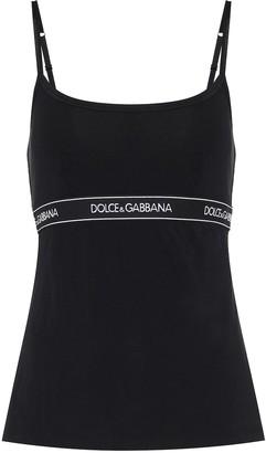 Dolce & Gabbana Logo cotton-blend jersey camisole