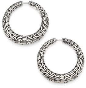 John Hardy Classic Chain Sterling Silver Hoop Earrings