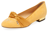 Charlotte Olympia Eccentric Kitty Suede Flat