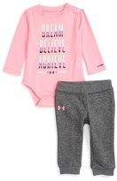 Under Armour Dream, Believe, Achieve Bodysuit & Sweatpants Set (Baby Girls)