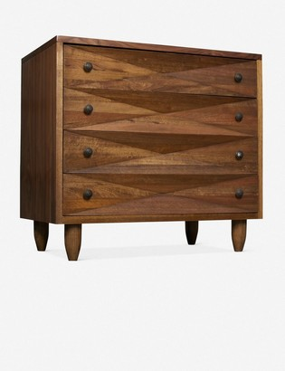 Lulu & Georgia Sen 4-Drawer Dresser, Dark Walnut