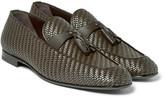 Ermenegildo Zegna - Lido Pelle Tessuta Leather Tasselled Loafers