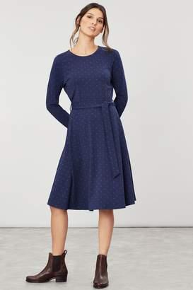 Joules Womens Blue Monica Long Sleeve Jersey Dress - Blue