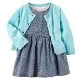 Carter's Baby Girls' Long Sleeve Cardigan & Dress Set
