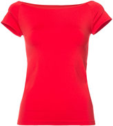 Helmut Lang slash neck T-shirt