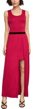 BCBGMAXAZRIA Layered-Look Maxi Dress