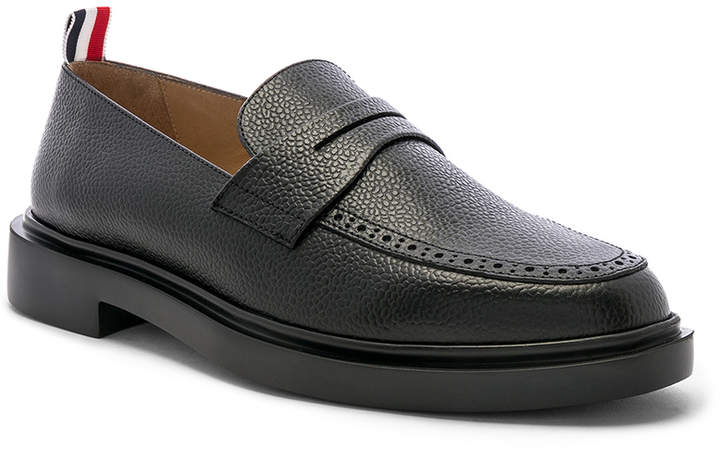 Thom Browne Rubber Sole Loafer in Black | FWRD