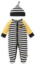 Offspring Infant Boys' Multi Striped Dino Footie & Hat Set - Sizes 3-9 Months