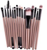 Start 15 pcs/Sets Makeup Brush Set for Eye Shadow Foundation Eyebrow Lip (Gold)