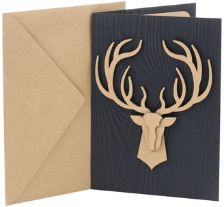 "Hallmark Signature Birthday ""Deer Head"" Greeting Card"
