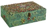 Pier 1 Imports Jacquard Jewelry Box - Teal
