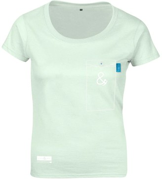 Anchor & Crew Honeydew Green Anchormark Print Organic Cotton T-Shirt (Womens)