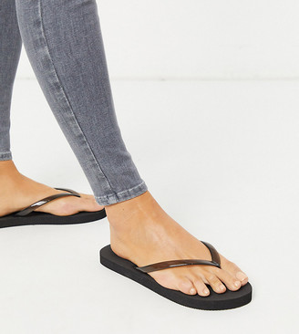 Truffle Collection wide fit flip flops