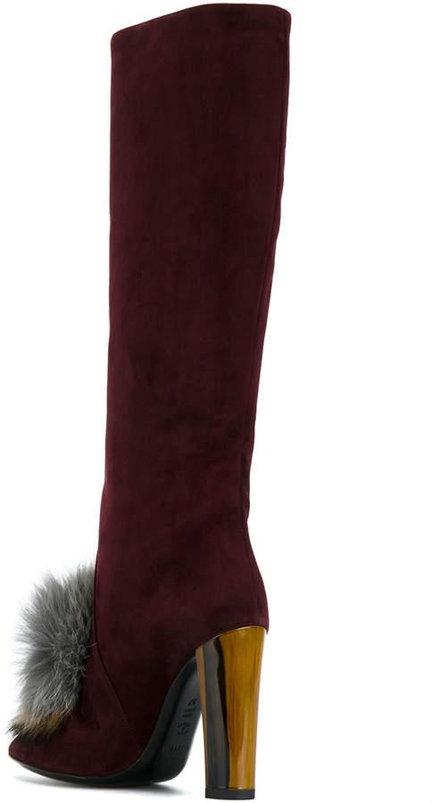 Pollini pom pom boots