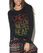 Wet Seal One Love One Heart Long Sleeve Top