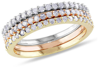 Rina Limor Fine Jewelry 18K Two-Tone & Silver .60 Ct. Tw Diamond Three Ring Stackable Set