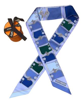 Hermes Maxi twilly Blue Silk Scarves