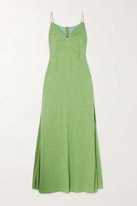 Emilia Wickstead Heber Hammered Silk-satin Gown - Green