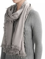 La Fiorentina Wool-Cashmere Scarf - Eyelash Fringe (For Women)