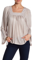 Anama Square Neck Bell Sleeves Blouse