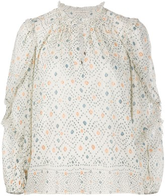 Ulla Johnson Manet geometric blouse
