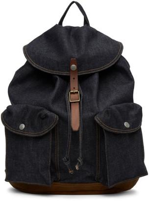 Ralph Lauren RRL Indigo Denim Riley Backpack