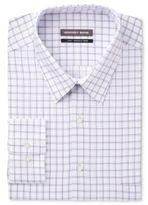 Geoffrey Beene Men's Big & Tall Classic/Regular Fit Purple Check Dress Shirt