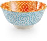 "Certified International Chelsea Collection Porcelain 4.75"" Aqua Swirl Bowl"