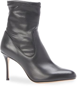 Marion Parke Drew Stretch Leather Stiletto Booties