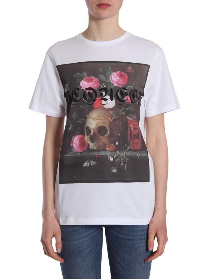 Alexander McQueen T-shirt With Still Life Print