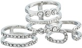 GUESS Six-Piece Dainty Stacker Ring (Silver) Ring