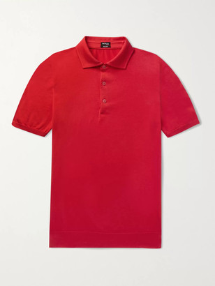 Kiton Slim-Fit Cotton Polo Shirt - Men - Red