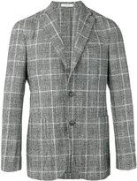 Boglioli checked two-button blazer - men - Silk/Cotton/Linen/Flax/Cupro - 48
