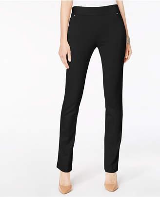 INC International Concepts Inc Curvy Pull-On Straight-Leg Pants
