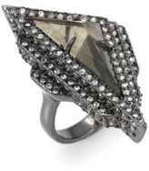 Alexis Bittar Crystal Stepped Fancy Pyramid Cocktail Ring
