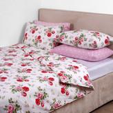 Cath Kidston Antique Rose Bouquet Duvet Cover - White - Super King