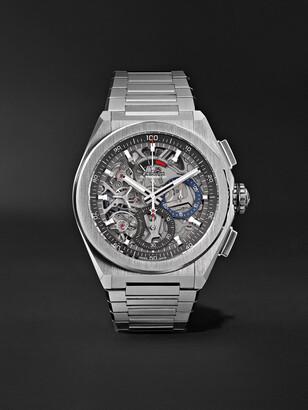 Zenith Defy El Primero 21 Chronograph 44mm Brushed-Titanium Watch, Ref. No. 95.9000.9004/78.m9000