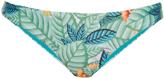 Mara Hoffman Leaf-print ruched back bikini briefs