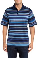 Bugatchi Men's Classic Fit Stripe Jersey Polo